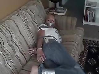 Cute Girl Tape Bondage