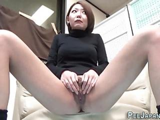 Asian Makes Herself Pee