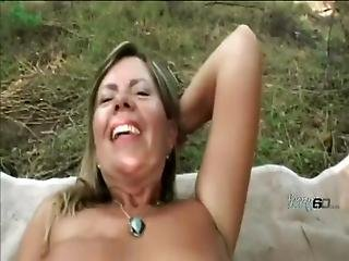Stunning Blonde Milf Loves To Fuck In The Open