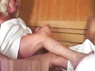 Old Whore Gets Fucked In The Sauna