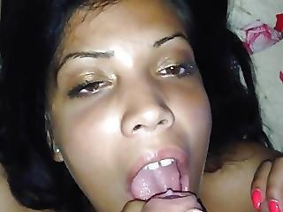 Amateur, Blowjob, Cum, Cum In Mouth, Latina, Pov, Teen