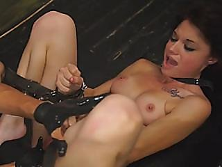 Brunette Babe Kaisey Tied And Sexyd By Big Dong