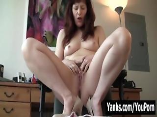 Milf Helena Fingering Her Hairy Twat