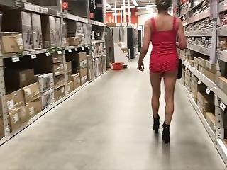amatør, fetish, hæler, hjemme, voksent, milf, naken, truser, offentlig, skjørt, solo