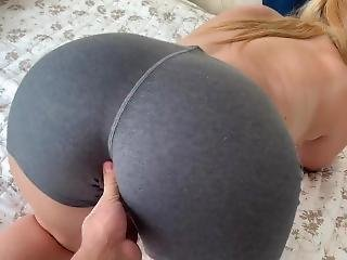 Yoga Practice With My Big Natural Tit Step Sister