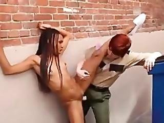 Black, Fisting, Guard, Prison, Sexy, Strapon, Whiteonblack, White