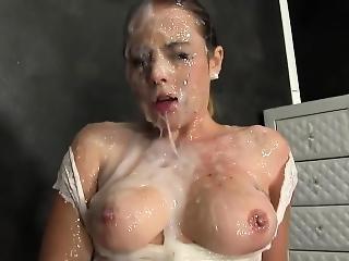 Cunt Rubbing Bukkake Slut
