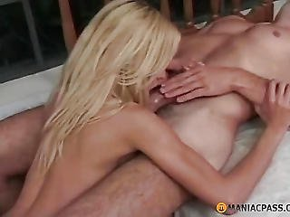 Blonde Kicks From His Tongue