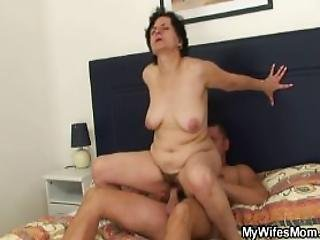 Cockriding Granny Getting Busted