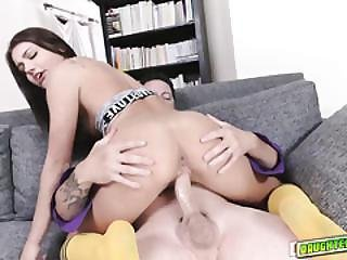 Adria Rae Does Reverse Cow Girl On Top Of Caras Dad
