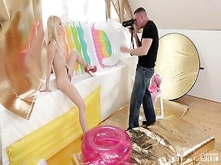 My Naughty Album - Hot Russian Blonde Model Kira Thorn Takes Hot Pov Banging At The Studio