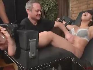 Sasha Foxx Trapped, Blindfolded & Tickle Tortured With Interview