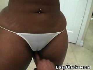 Black Ex Girlfriend With Big Booty Sucking Dick In Bathroom