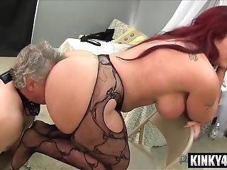 Big Ass Slave Femdom With Cumshot
