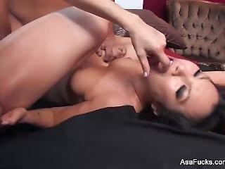Threesome Action With Asa Akira, Dana Dearmond, And Derrick Pierce