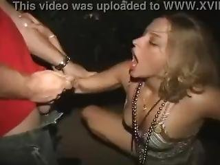Madre Gras Skank Gets Pissed On In Alley.