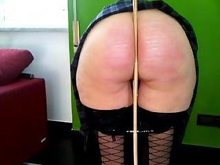 Hard Caning For Her Green Wall