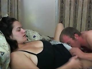 My Wife Gets Her Hairy Pussy Filled Up With Cum By My Best Friend