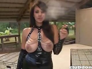 Jerk To Your Mistress Ashtray Bitch Slave