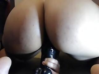 Tight Pussy Vs. Huge Dildo