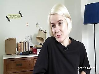 Sweet Blonde Luisa Fucks Her Favorite Dildo