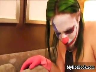 Hot Tattooed Girl Gagged And Fucked By Rockstar Clown