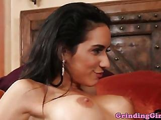Gorgeous Glam Lesbians Finger And Eat Pussy