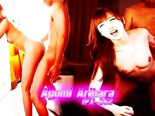 asiático, cumshot, gangbang, duro, japonese, coreana, threesome