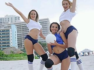 Volleyballin With Sierra Nicole, Nicolette Love, And Eve Ellewood