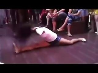 Armless Girl Dancing On The Street