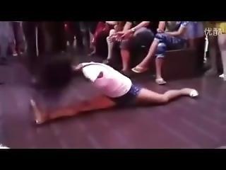 Armless Girl Dancing On The Street