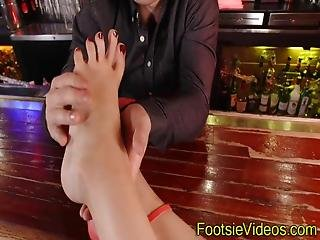 Teenagers Toes Creamed After Sucking Cock And Getting Railed
