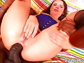 She Enjoy Only If Two Large Dicks