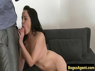 Cock Sucking Amateur Creampied At Casting