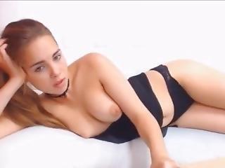 amatør, babe, stort bryst, brunette, smuk, hjemme, alene, webcam