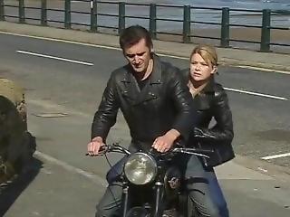 Leather Blonde Biker Robber Girl