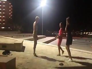 Naked Guy On Ibiza - Streetfun For Tourists