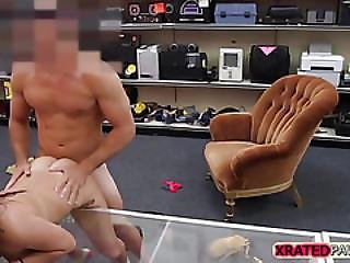 Desperate Student Sucks And Fucked The Owner Of The Shop