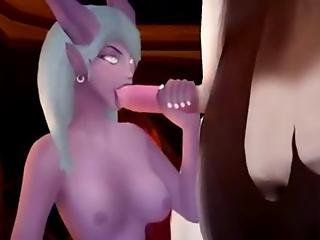 Elf Sucking The Cock Of The New Boss Of The Horde