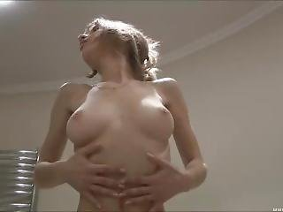 brud, bröst, naturlig, dusch, Tonåring