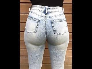 anal, røv, stor røv, brunette, fetish, jeans, milf, alene