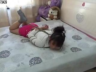 Asian Bondage Bed Struggle