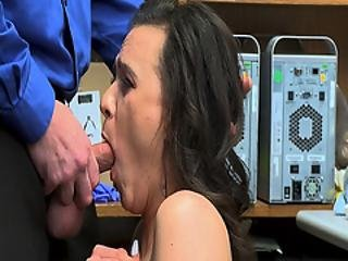 Alex More Giving The Lp Officer A Hot Slobbery Blowjob