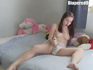 Diaperedonline Taylor Uses Magic Want On Goodnites And Gets Spanked