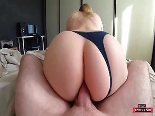 Anal Fuck Through Panties With Big And Juicy Ass - Cute Teen