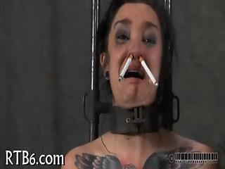 Painful Clamping For Beauty S Zeppelins