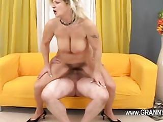 Ultra Adorable And Sexy Granny With My Brother
