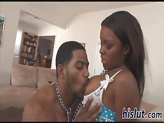 Sexy Ebony Babe Has Her Pussy Nailed
