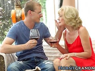 Old Granny Gets Creampied After Sucking And Riding Cock In Hd