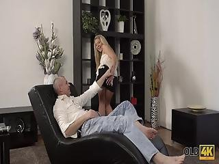 It Was A Sunny Day And Claudia Was Supposed To Clean Her Flat, But Her Older Guy - So Handsome And Sexy - Was Lying On The Sofa� Yes, Pavel Was Older Than Her, But His Dick Was Hard Same As It